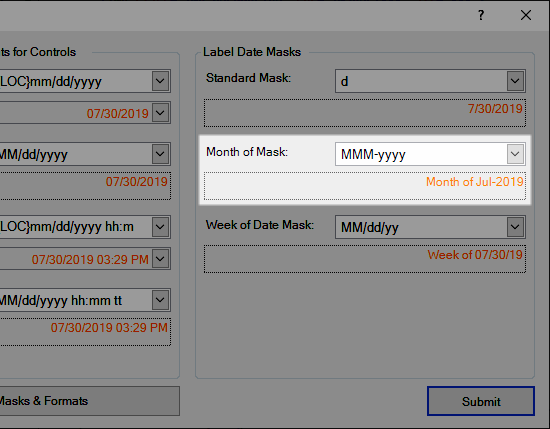 Month of Mask for Labels